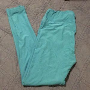 LuLaRoe solid teal TC leggings New!